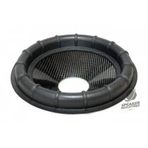 """12"""" Carbon cone with Ribbed surround 4"""" voice coil opening,Depth 50 mm"""